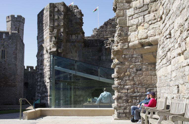 A new accessible entrance and ticketing facility for Caernarfon Castle