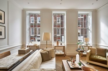 This 1719 Georgian building in Mayfair, situated in the Mayfair conservation area between New Bond Street and Savile Row, has undergone a full refurbishment as a new fashion retail premise