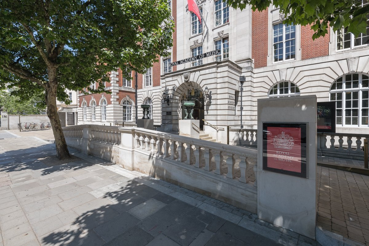 The new accessible entrance ramp at the Royal Academy of Music.