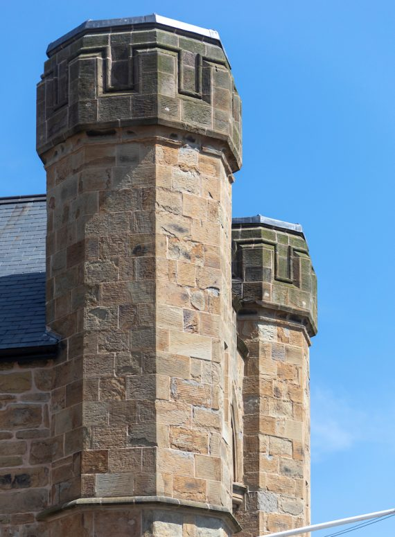 Turrets at Flint Town Hall
