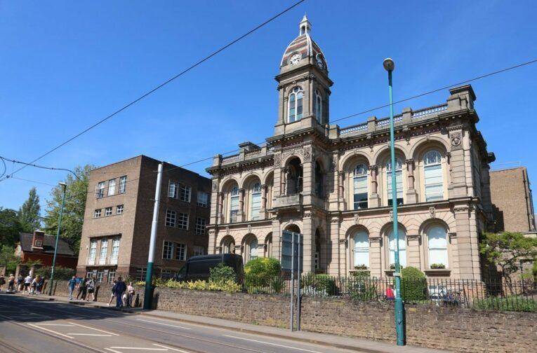 Principal elevation of the Waverley Building, 2019
