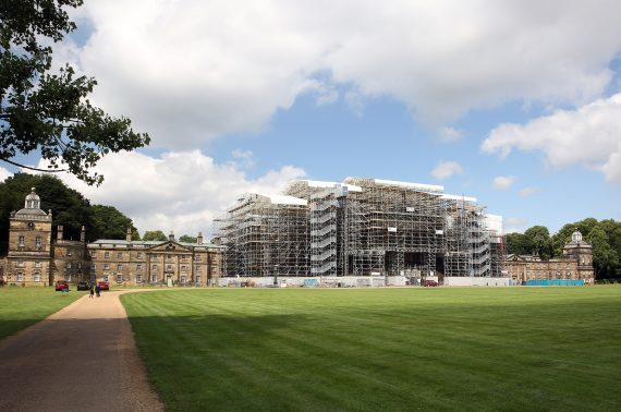 Rooftop tours mark milestone at Wentworth Woodhouse as roof scaffolding completed