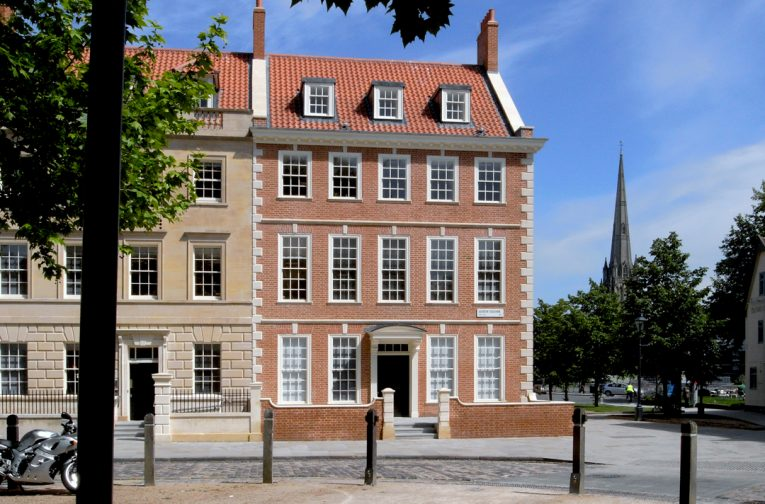 The house at 25 Queen Square was rebuilt on the evidence of historic photographs,