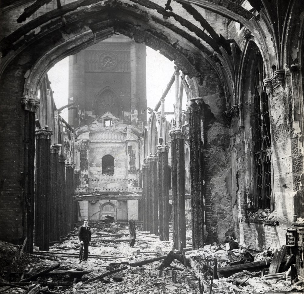 Insall's work on what is known locally as 'The Bombed-Out Church' responds to problems of decay, safety and presentation. Our approach aligns powerfully with that advocated in Bombed Churches as War Memorials.