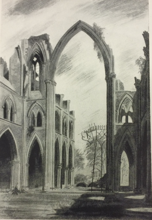 Barbara Jones, The conservation ruins of St John's London in Bombed Churches as War Memorials.