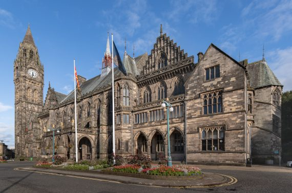 Rochdale Town Hall restoration set to be considered by council planners
