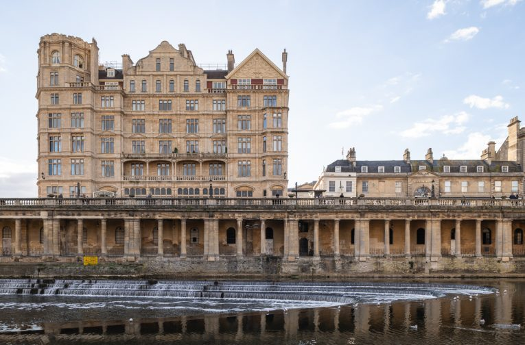 The Empire, Bath, from across the River Avon