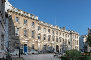 Facade of the North Block at St Bart's Hospital, where Insall are undertaking a series of repairs and conservation